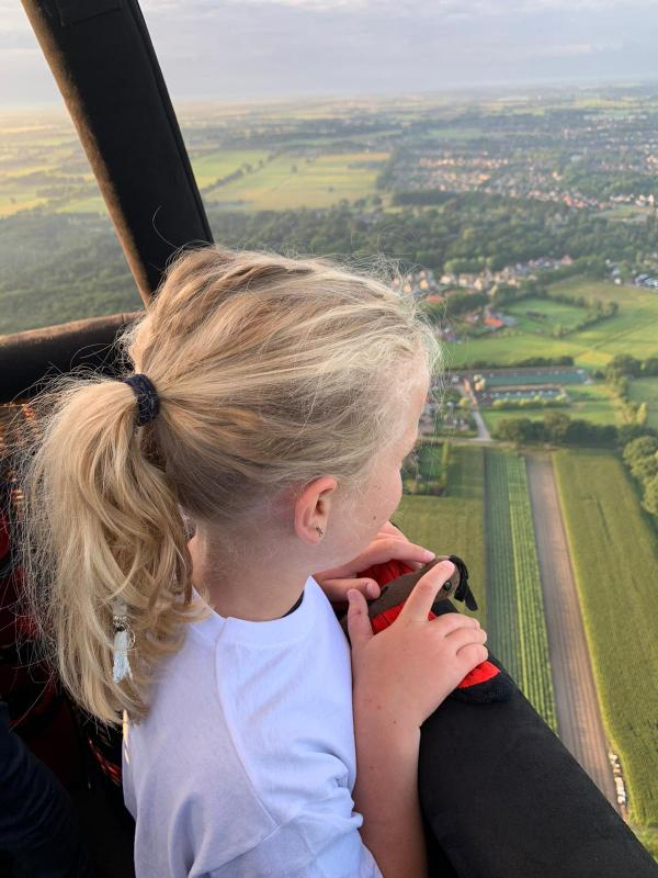 Uitzicht vanuit een luchtballon